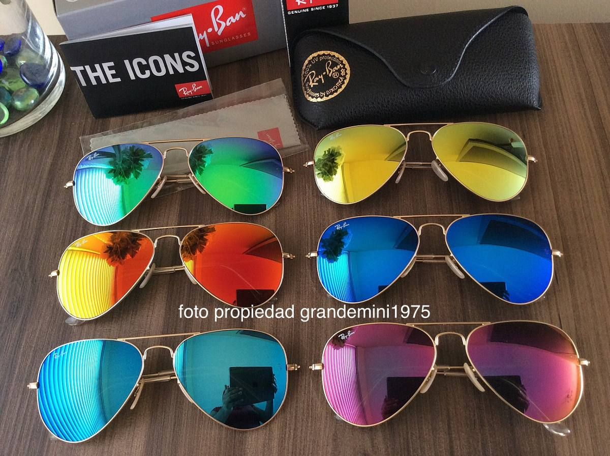 gafas ray ban aviator colores