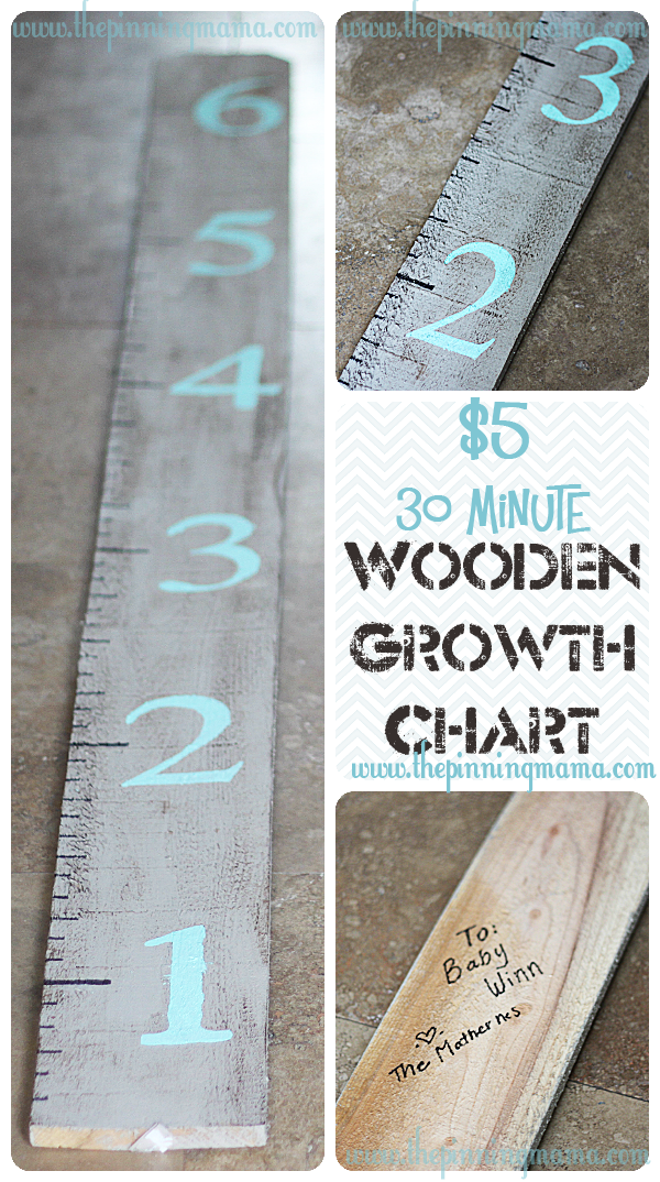 How to make an easy wooden growth chart for under who knew it was so thepinningmama diy baby shower ts also rh pinterest