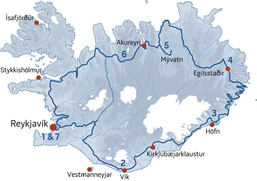 Iceland Express Map Iceland Travel Iceland Road Trip Iceland