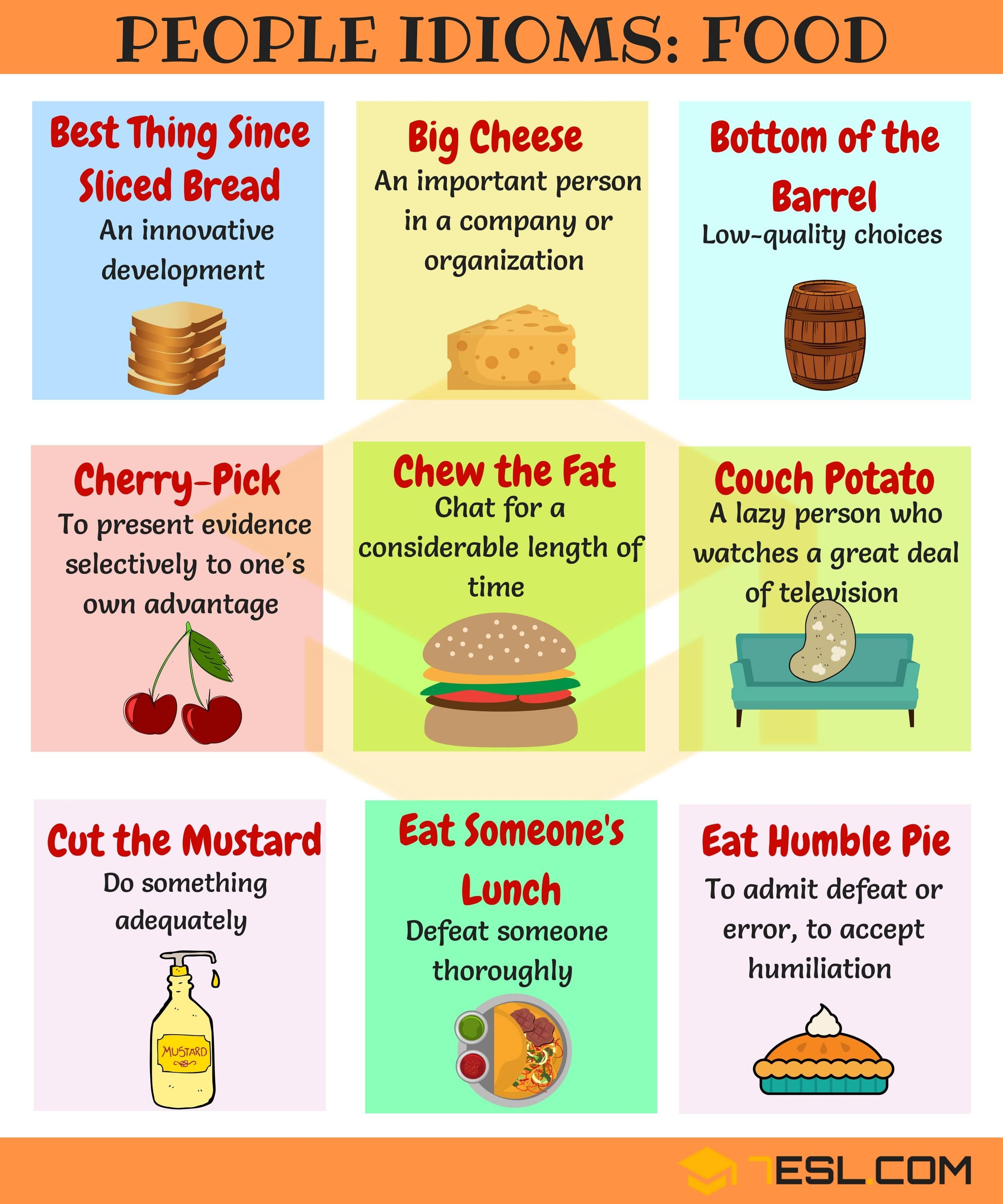Cuisine Meaning English Food Idioms 70 43 Food Idioms And Sayings With Examples