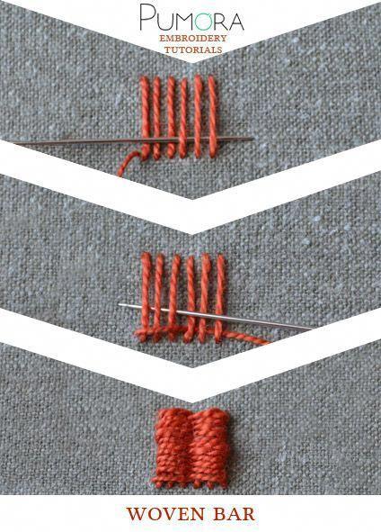 b91a80f0 Pin de Gabriela Dominguez en Bordado | Embroidery stitches, Crewel  embroidery y Sewing stitches