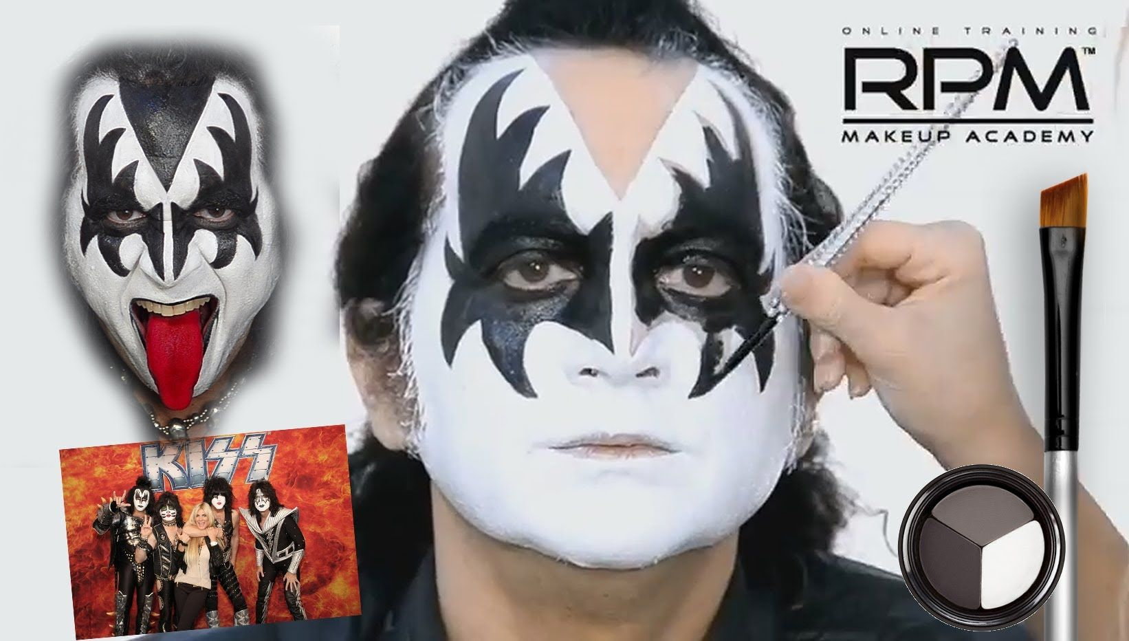 The Official Gene Simmons Makeup Look Kiss With Images Gene