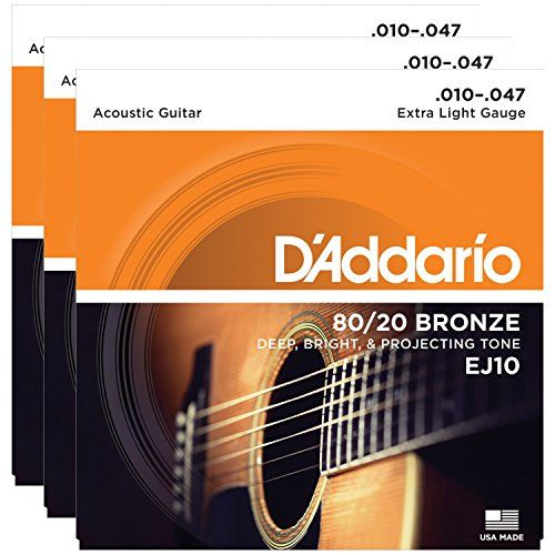 3 Packs Of Daddario Ej10 Bronze Acoustic Guitar Strings Extra Light 1047 For More Information Visit Image Li Acoustic Guitar Strings Guitar Acoustic Guitar