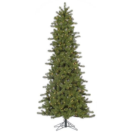 """Found it at Wayfair - 7.5' $212.99 42"""" diam. Ontario Slim Spruce Christmas Tree with 500 Incandescent Dura-Lit Clear Lights with Stand"""