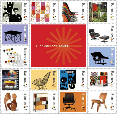 Charles and Ray Eames stamps