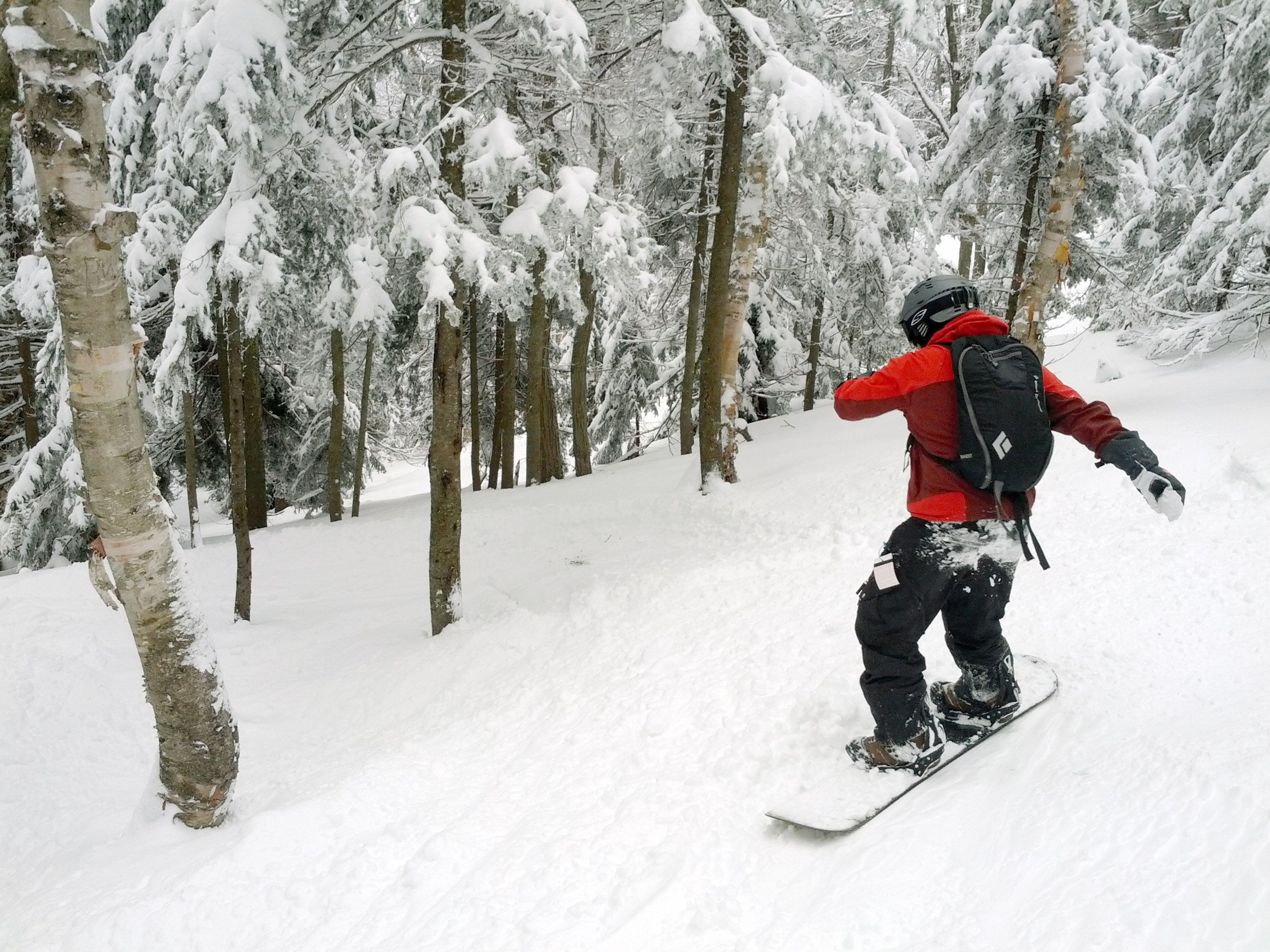taking on a double black diamond at okemo ski resort: bumps and