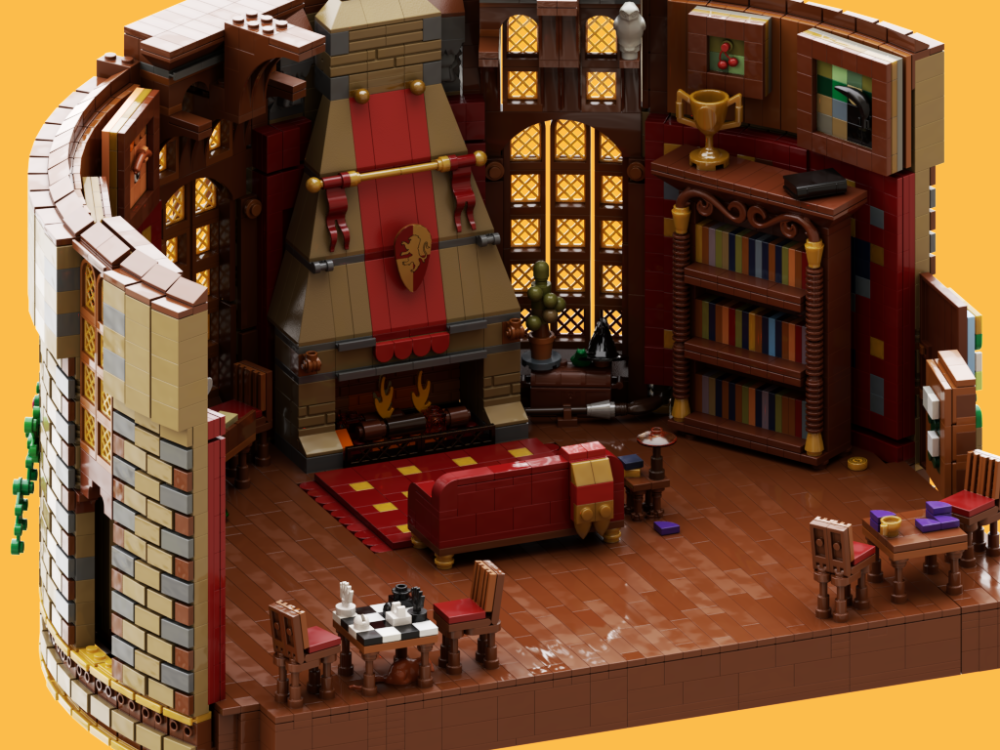 Lego Ideas Magical Builds Of The Wizarding World Hogwarts Gryffindor Common Room Gryffindor Common Room Hogwarts Room Common Room