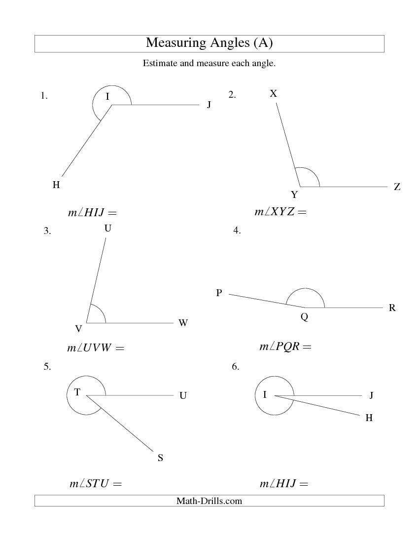 Measuring Angles Between 5 And 355 A Measurement Worksheet Angles Worksheet Measuring Angles Measuring Angles Worksheet [ 1100 x 850 Pixel ]