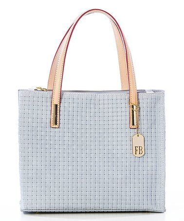 White Woven Leather Tote #zulily #zulilyfinds