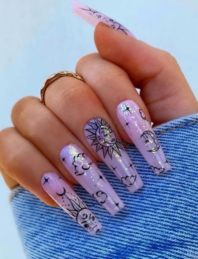 Diseños de arte de uñas de ataúd de acrílico Bling cómodos en verano de 2020: siga creando belleza y un hogar cálido, encuentre más felicidad en la vida diaria  – Boda fotos