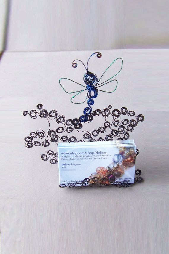 Dragonfly Business Card Holder in Steel Swirls and Micro by deleas ...