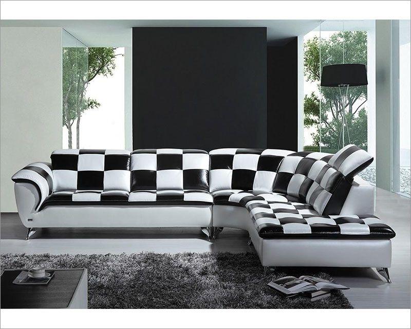 Model Sofa Ruang Tamu Hitam Putih Ruang Tamu Di 2019 Leather