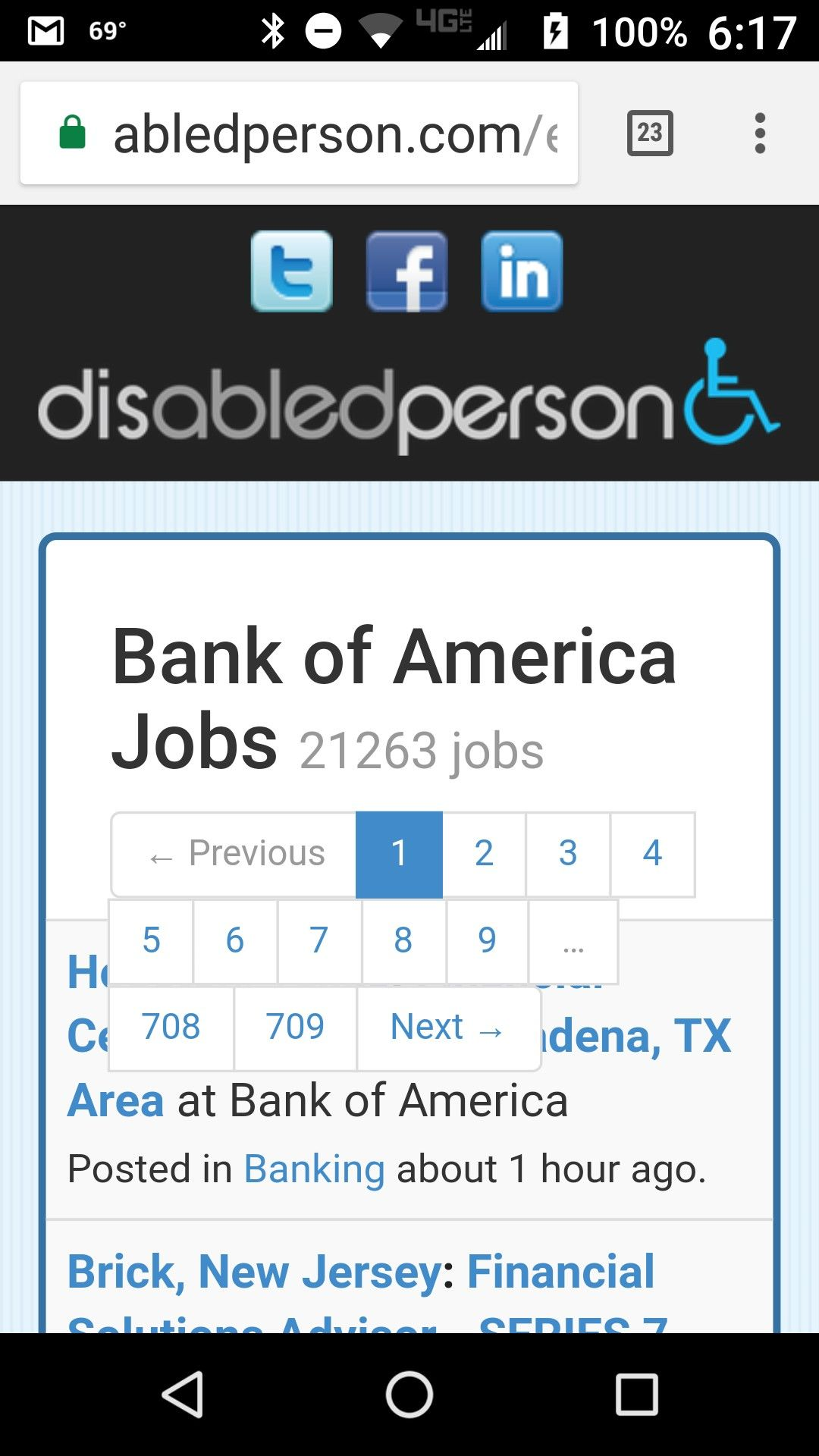 Are you a person with a disability looking for work bank