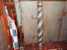 RARE Antique Black White Barber Pole Trade Sign Original Paint True Americana