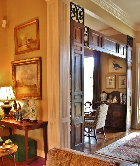 Beautiful Antique Doors Replace The Modern Ones In This Home. This Set Was  Combined With