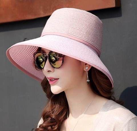 Summer beach straw bucket hat removable sun visors for women  ebffaa66db7