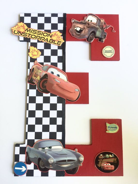 Disney Cars Letters, Custom Letter, Cars Child Wall Decor ...