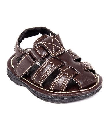 Brown Smart Closed-Toe Sandal by Great Guy #zulily #zulilyfinds