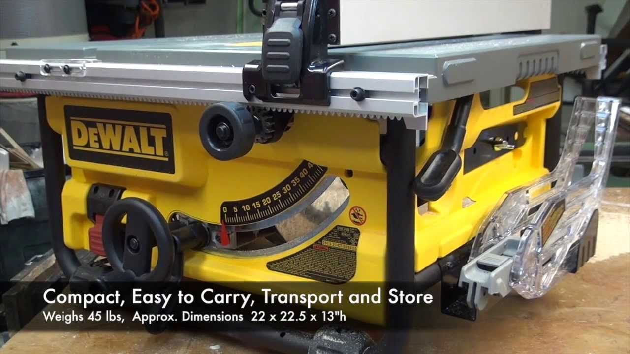Dewalt Dwe780 Compact Tablesaw Video Review Compact