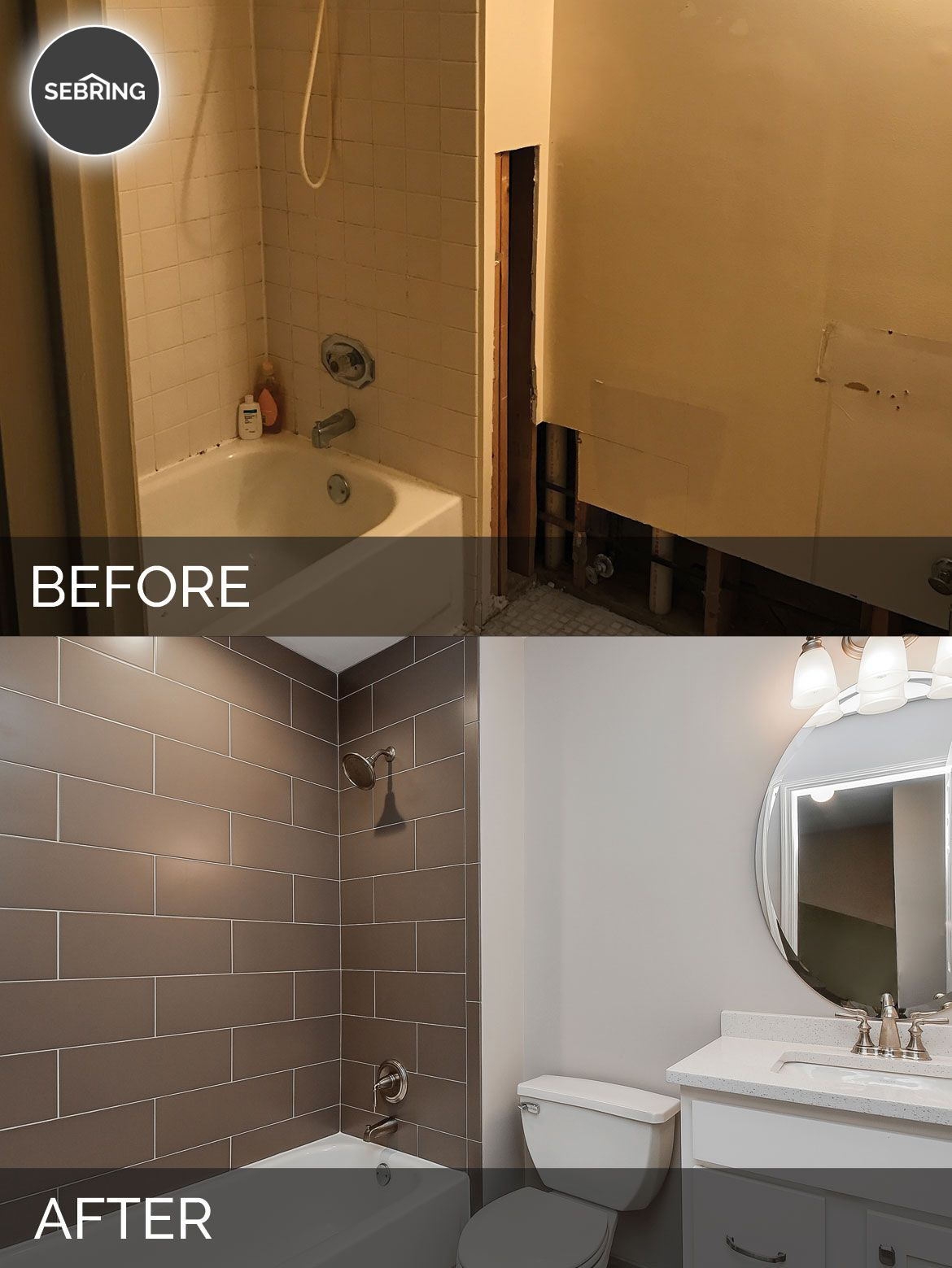 Charles Cindy S Hall Bathroom Before After Pictures