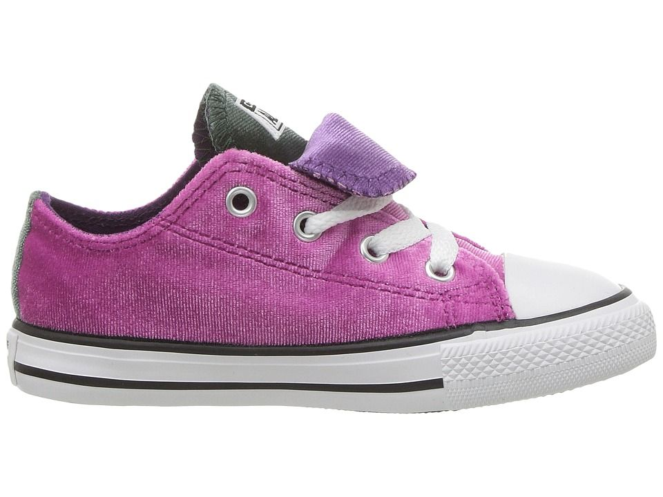 087cb039e2c3 Converse Kids Chuck Taylor All Star Velvet Double Tongue - Ox (Infant  Toddler) Girls Shoes Pink Sapphire Deep Emerald