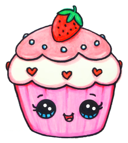 Cupcake Artdrawings Cute Drawings Cute Kawaii Drawings Kawaii