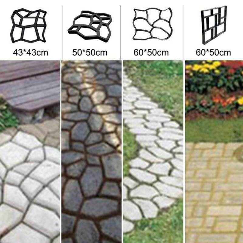 Pavimento de hormigón Jardín Sendero Losa Molde de baldosas de ladrillo de plástico