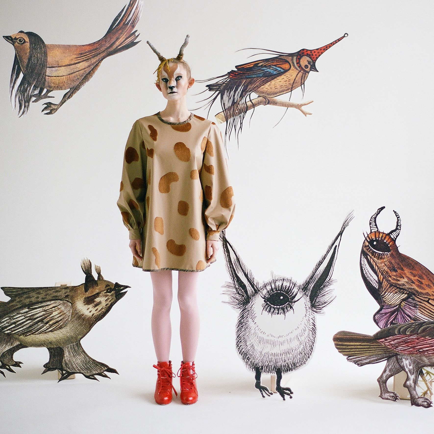 """Monstrology"""" is a new story// fairy tale by Lesia Paramonova, Moscow - based fashion and graphic designer. This is a story about the magical transformations she created the six birds-monsters and turned them into embroidery on clothes"""