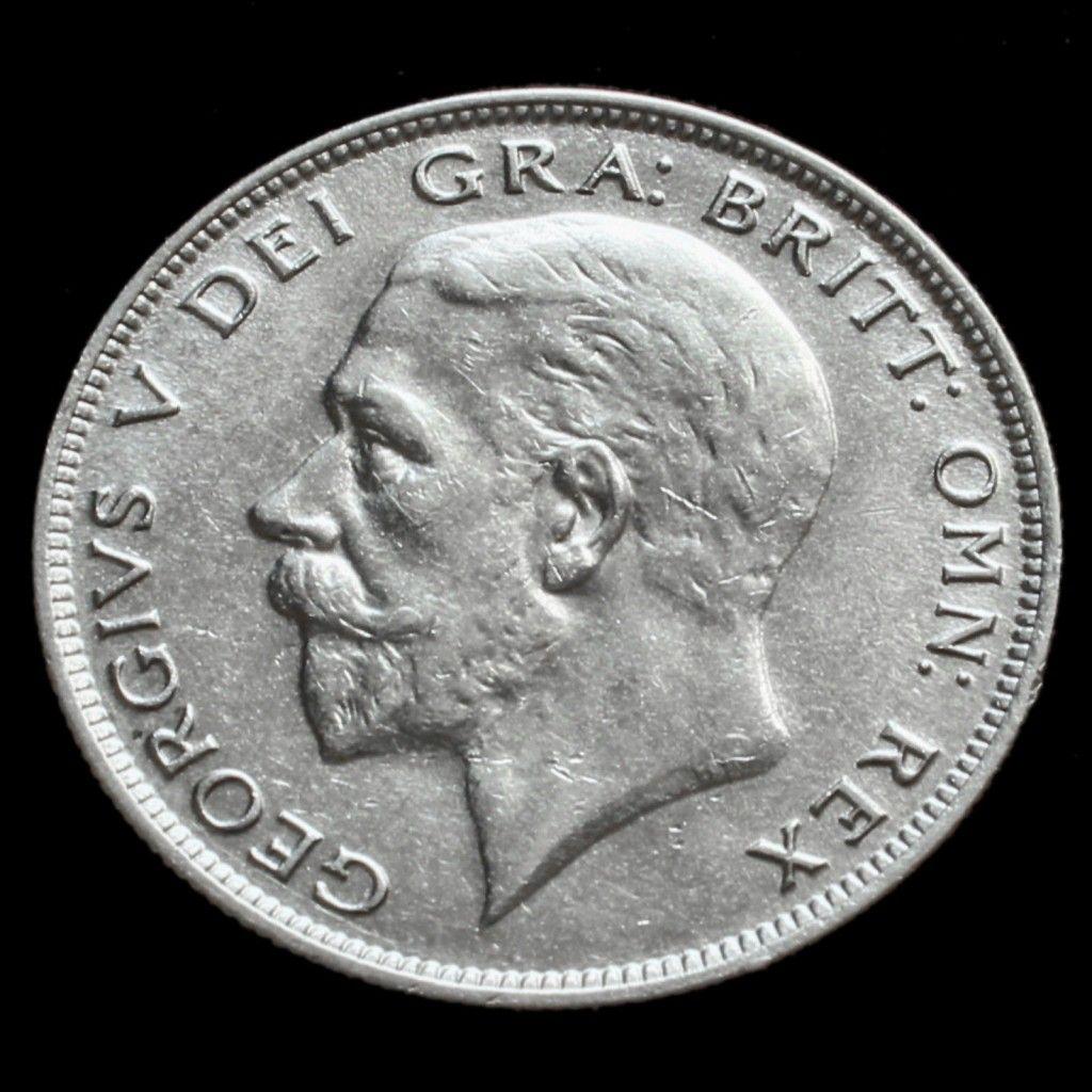 1929 George V Silver Half Crown A/EF