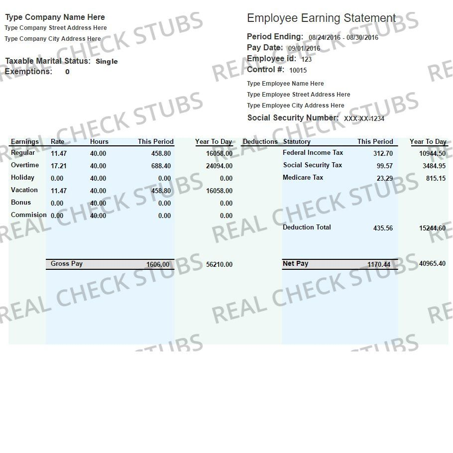 Real Paycheck Stubs Create Stub Paycheck Printable Certificates Income Statement