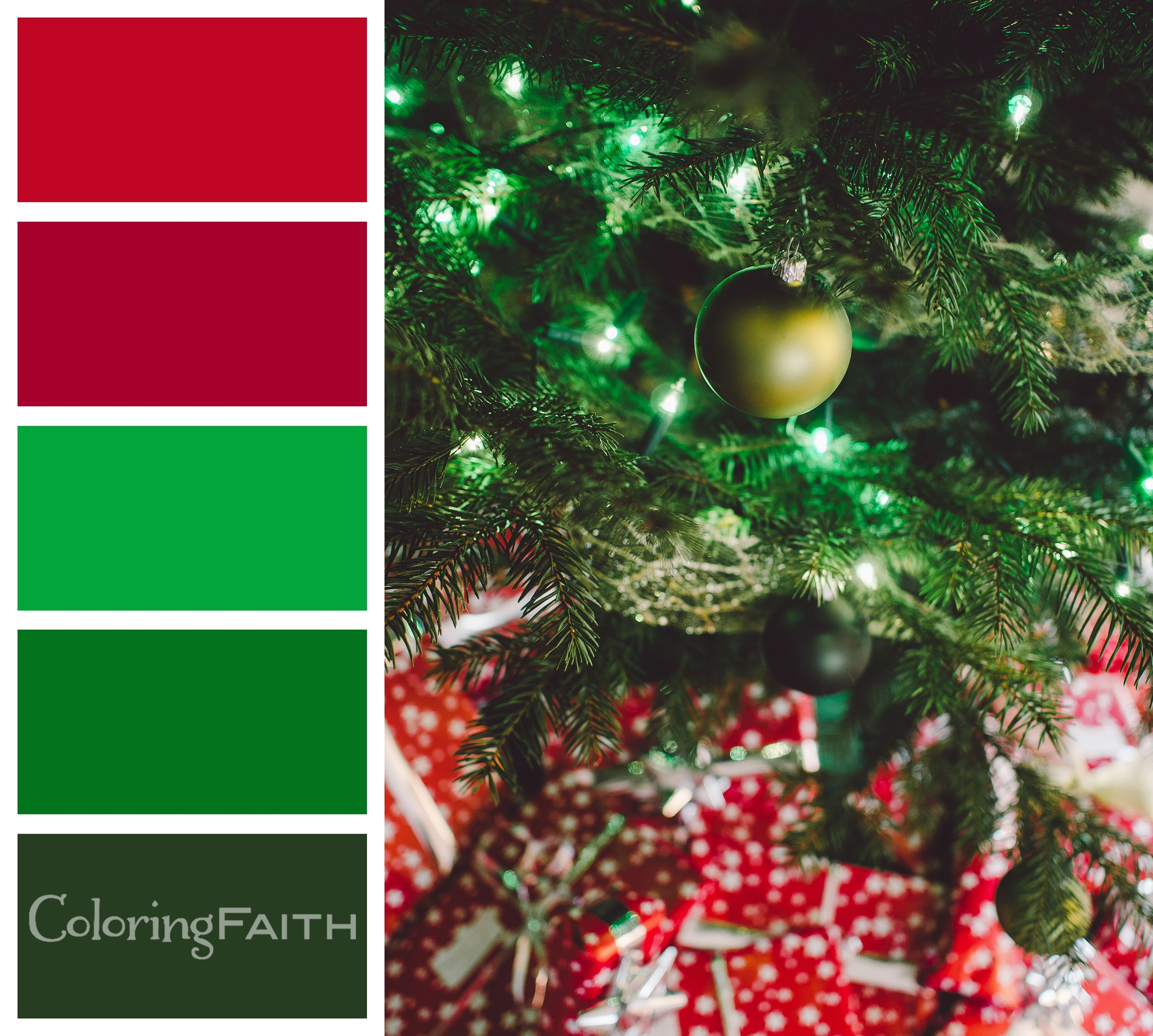 Christmas Tree Color Palette - 10 Free Adult Coloring Book Color ...