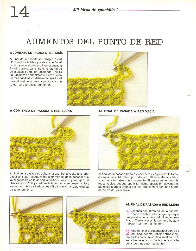 patrones asgaya: PUNTO DE RED A CROCHET   crochet   Pinterest ...