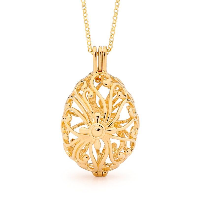 Tranquility Yellow Gold Perfumed Jewelry Gold Collection