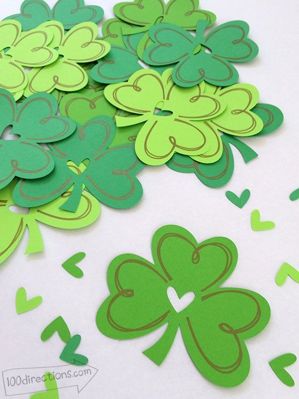Shamrock cutting file designed by Jen Goode