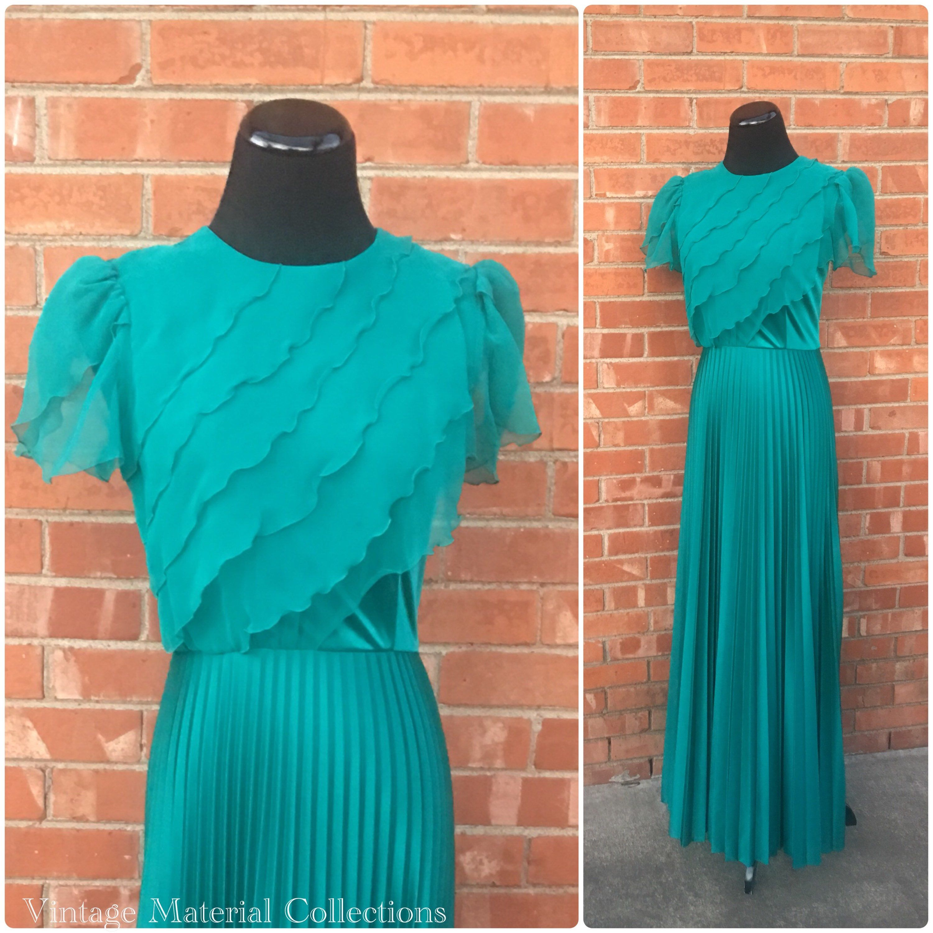 S formal dress sm material collections u vintage emerald