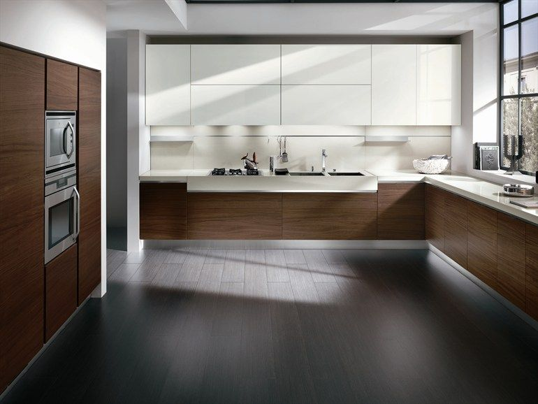 Walnut And White Such A Nice Combo Kitchen Elektra New Clic Ernestomeda