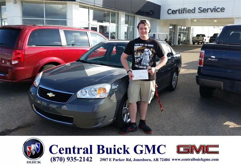 Congratulations To Caleb Hollis On Your Chevrolet Malibu From Billy Edgar At Central Buick Gmc Newcar With Images Buick Gmc Buick Gmc