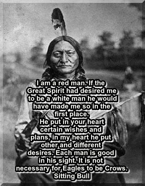 Sitting Bull Pensées Je Pense à Toi