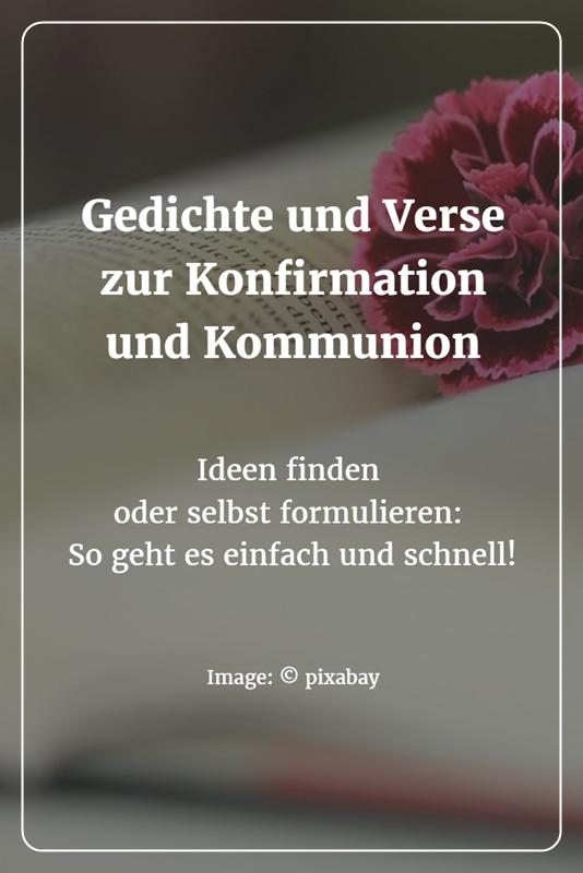 Gedichte oder verse zur konfirmation