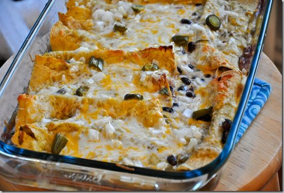 Black Bean and Sour Cream Enchiladas