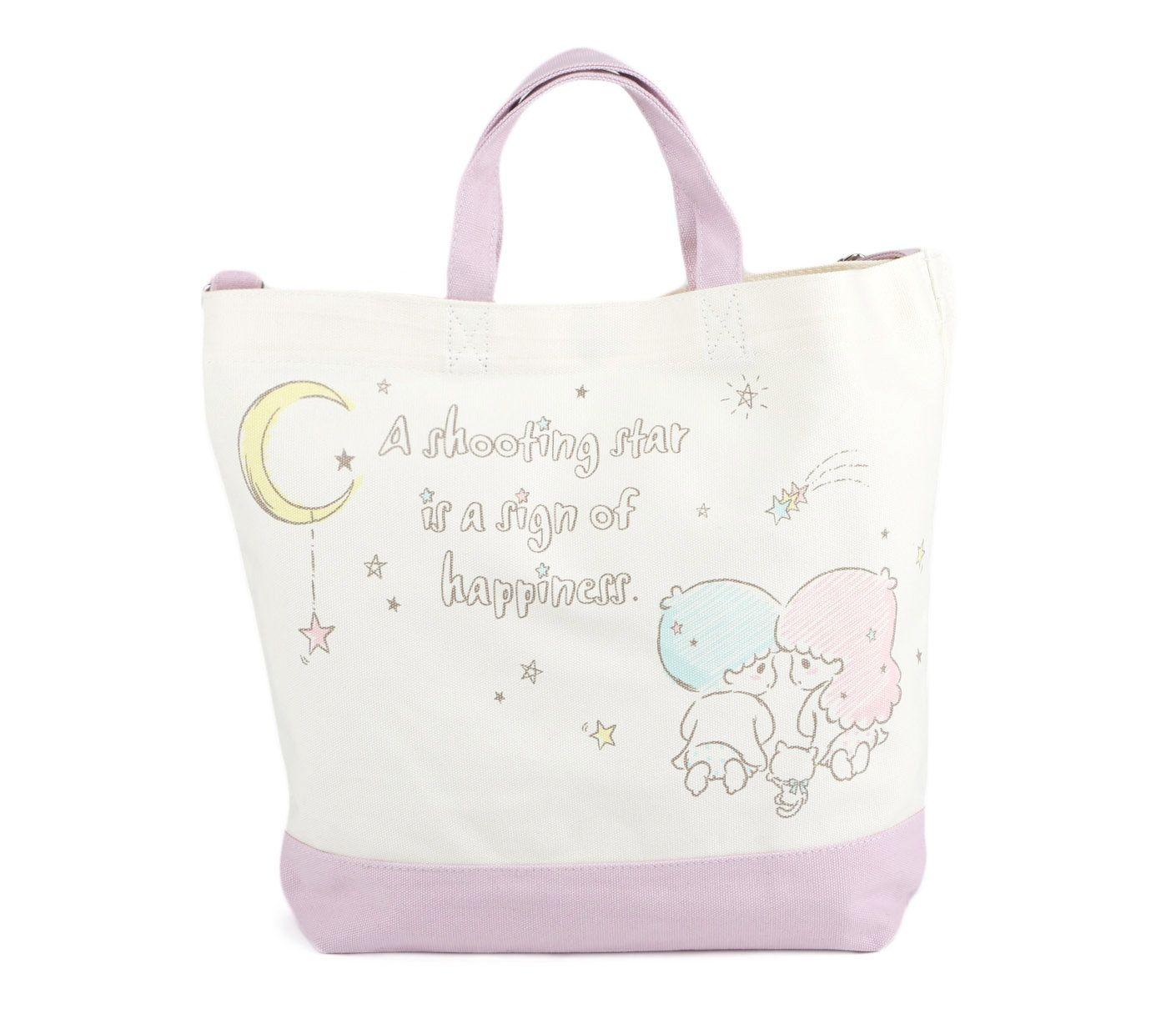 635696605 Little Twin Stars 2 Way Canvas Tote Bag - Sanrio