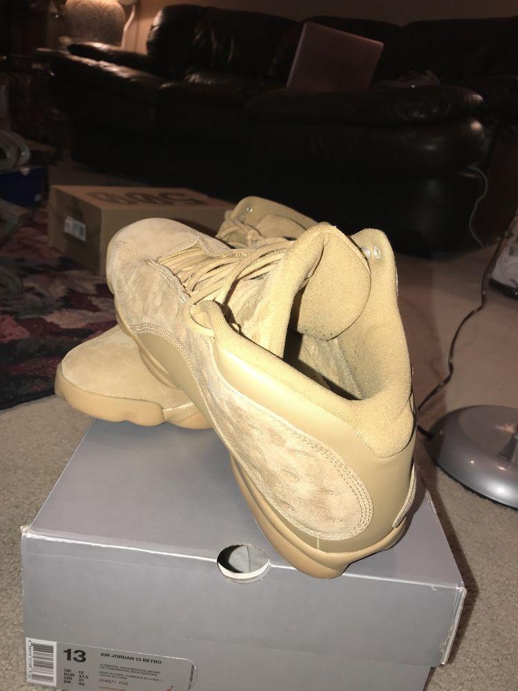 timeless design bcc42 54c3e Nike Air Jordan Retro 13 Size 13 Men Wheat  Golden Harvest 414571-705