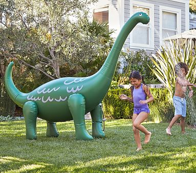 Dino Inflatable Sprinkler #pbkids They're going to love this!!