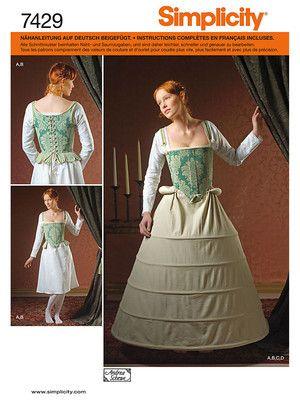 Schnittmuster: Historisches Kleid mit Reifrock - Historische Kostüme ...