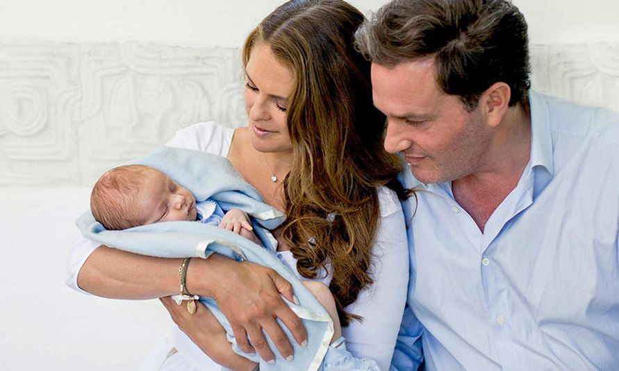 Princess Madeleine of Sweden shares photos of newborn son Prince Nicolas