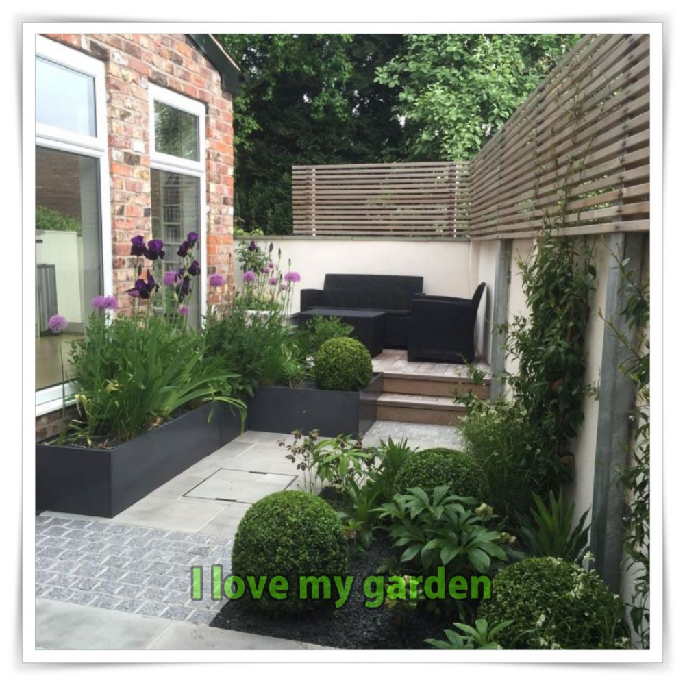Small Garden Design Examples - Here   Ayşeden in 2020 ...