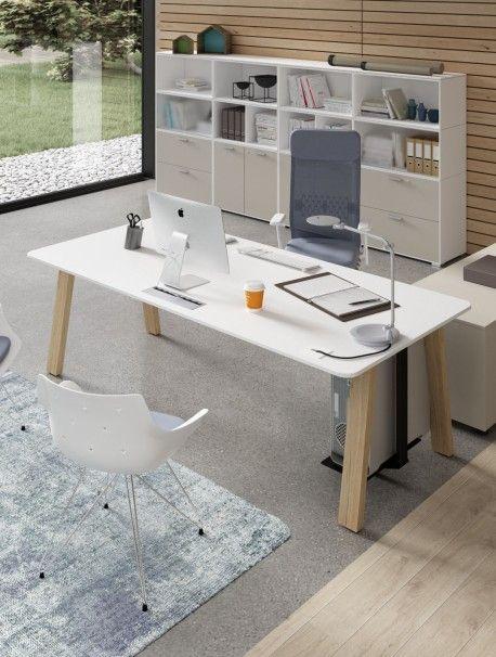 Bureau Individuel Sobre Et Design Avec Plan De Travail