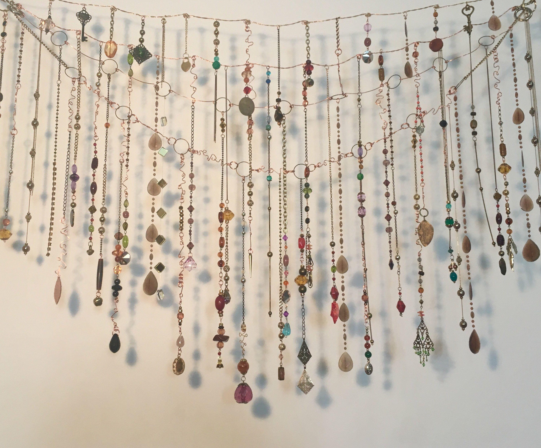 Gold Frame Jewellry organiser Holder Bohemian Window Curtain make ...