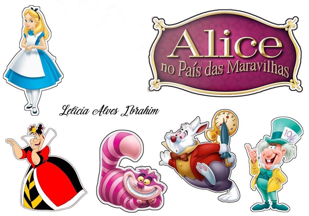 Topper Alice No Pais Das Maravilhas Decoracao Alice No Pais Das