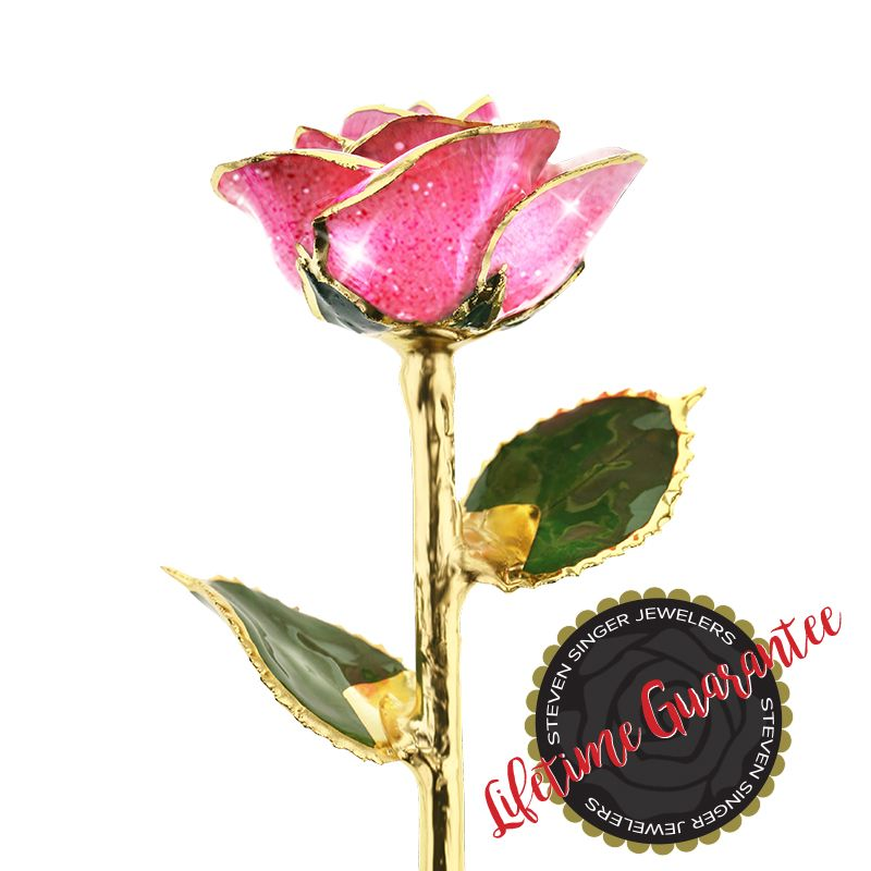 Pink Champagne 24kt Gold Dipped Rose From Steven Singer Jewelers Gold Dipped Rose Gold Dipped 24k Gold Rose